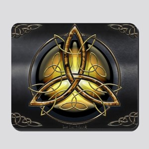 Celtic Triquetra on Pearl Mousepad