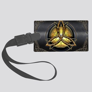 Celtic Triquetra on Pearl Large Luggage Tag