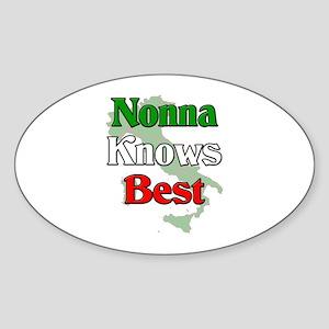 Nonna Knows Best Oval Sticker