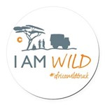 AfricaWildTruck Round Car Magnet