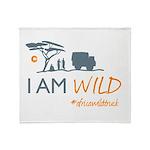 AfricaWildTruck Throw Blanket