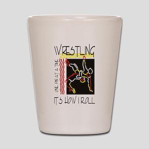 wrestling27light Shot Glass