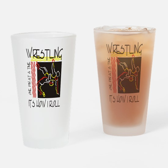wrestling27light.png Drinking Glass