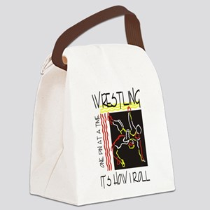 wrestling27light Canvas Lunch Bag