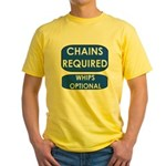 Chains Requied, Whips Optiona Yellow T-Shirt