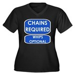 Chains Requied, Whips Optiona Women's Plus Size V-