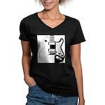 Ebony&Ivory Women's V-Neck Dark T-Shirt