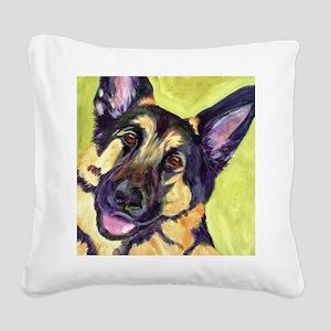 German Shepard Dog - Romo Square Canvas Pillow