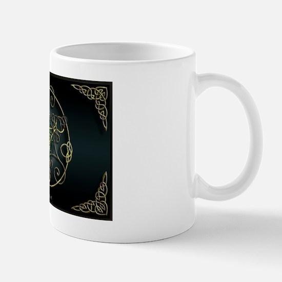 Green Romantic Celtic Triskel Mug
