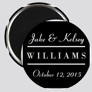 Personalized Black and White Family Keepsak Magnet