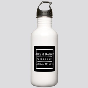 Personalized Black and Stainless Water Bottle 1.0L