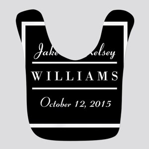 Personalized Black and White Family Keepsake Bib