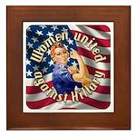 Women against Hillary Framed Tile