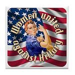 Women against Hillary Tile Coaster