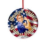 Women against Hillary Ornament (Round)