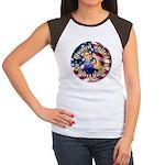 Women against Hillary Wmns Cap Sleeve T-Shirt