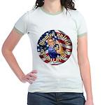 Women against Hillary Jr. Ringer T-Shirt