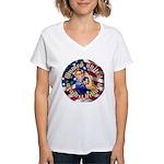 Women against Hillary Women's V-Neck T-Shirt