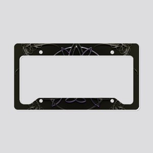 Neon Celtic Triquetra License Plate Holder