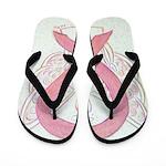 Pink Ribbon Angel Flip Flops