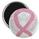Pink Ribbon Angel Magnets