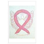 Pink Ribbon Angel Posters