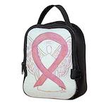 Pink Ribbon Angel Neoprene Lunch Bag