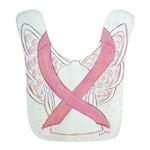 Pink Ribbon Angel Bib