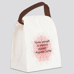 Auguste Comte Quote Canvas Lunch Bag