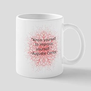 Auguste Comte Quote Mugs