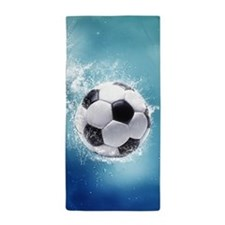 Soccer Water Splash Beach Towel