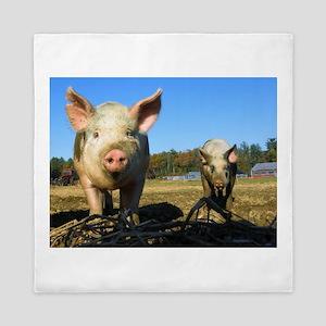 pigs2 Queen Duvet