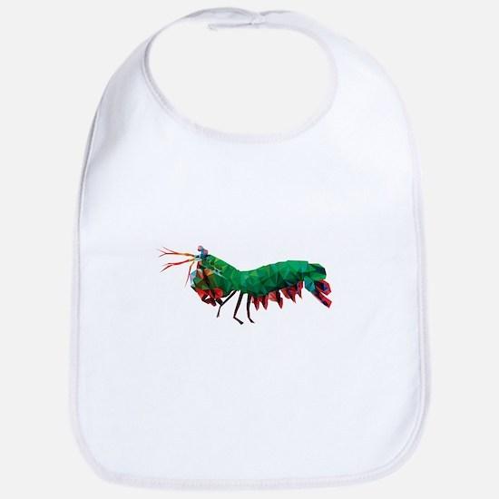 Geometric Abstract Peacock Mantis Shrimp Bib