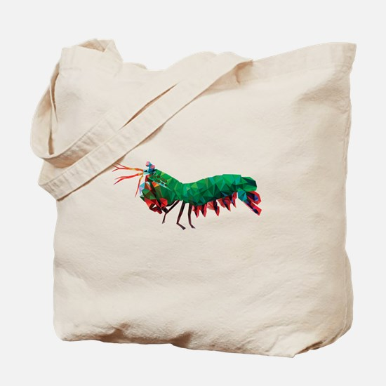 Geometric Abstract Peacock Mantis Shrimp Tote Bag