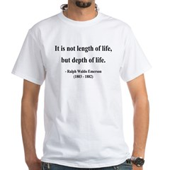 Ralph Waldo Emerson 6 White T-Shirt