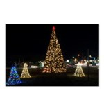 Christmas tree lights 3 Postcards (Package of 8)