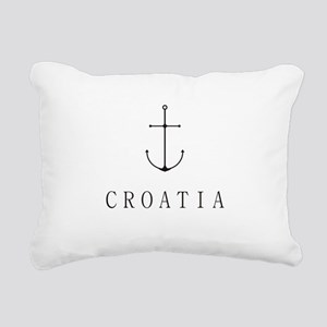 Croatia Sailing Anchor Rectangular Canvas Pillow
