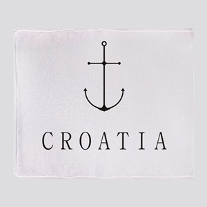Croatia Sailing Anchor Throw Blanket
