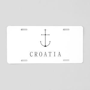 Croatia Sailing Anchor Aluminum License Plate
