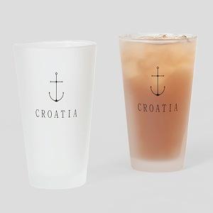 Croatia Sailing Anchor Drinking Glass