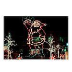 Santa in Lights Postcards (Package of 8)