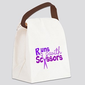 Fast Scissors Canvas Lunch Bag