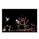 Snowman in lights Postcards (Package of 8)