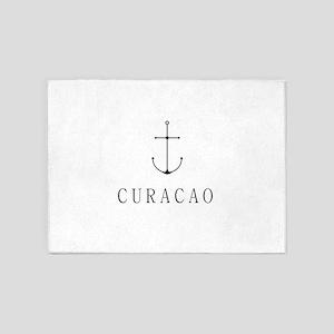 Curacao Sailing Anchor 5'x7'Area Rug