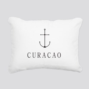 Curacao Sailing Anchor Rectangular Canvas Pillow
