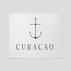 Curacao Sailing Anchor Throw Blanket