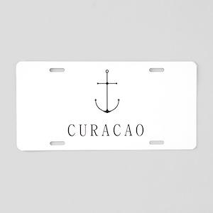 Curacao Sailing Anchor Aluminum License Plate