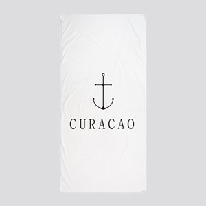 Curacao Sailing Anchor Beach Towel