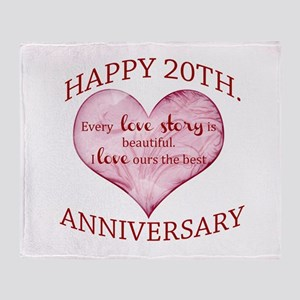 20th. Anniversary Throw Blanket
