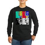 Pop Art Long Sleeve Dark T-Shirt